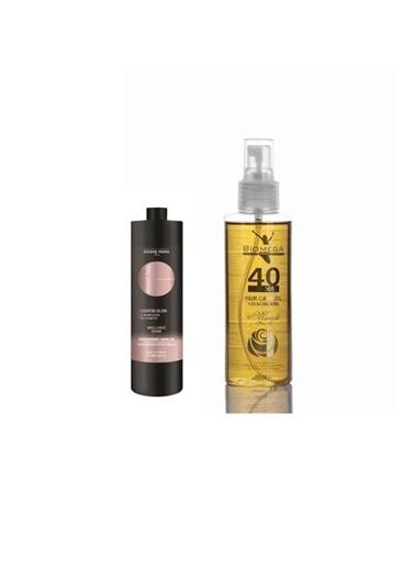 Eugene Perma Eugene Perma Essentiel Keratin Glow Şampuan 1000 Ml+Biomega 40 Bitkili Doğal Saç Bakım Yağı 150 Ml Renksiz